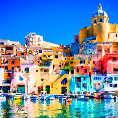 Italy offers a glorious mix of natural and historical landscapes, including the colourful Island of Procida.