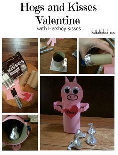 Hogs and Kisses #Valentine #craft #diy