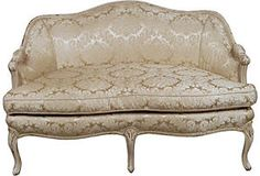 French Settee; different fabric