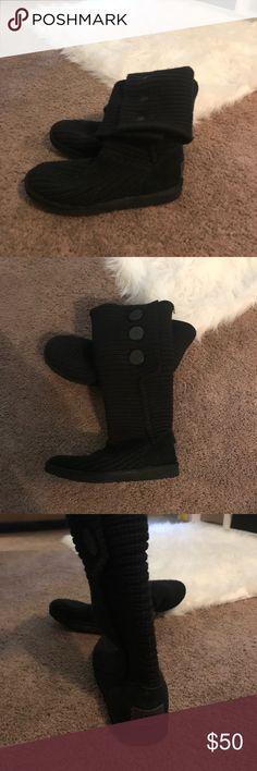 Black Ugg Boots Super cozy black ugg boots :) UGG Shoes Winter & Rain Boots