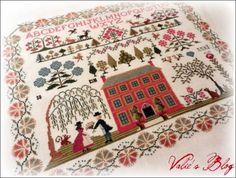 Red House Sampler by Brenda Keyes of The Sampler Company