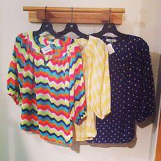 Ezra 3/4 bubble sleeve print blouses!