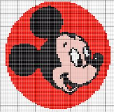 Mickey Mouse Knitting graphs for Disney characters Cross Stitch For Kids, Cross Stitch Charts, Cross Stitch Designs, Cross Stitch Patterns, Mickey E Minnie Mouse, Mickey Mouse And Friends, Knitting Charts, Baby Knitting, Cross Stitching
