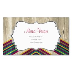 Modern Abstract Geometric Pattern on Wood Business Cards. This great business card design is available for customization. All text style, colors, sizes can be modified to fit your needs. Just click the image to learn more!