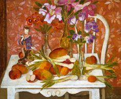 """Bodegón con figura china"" óleo sobre lienzo, 81 x 100 cm. Año 2004"