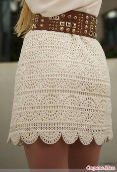 Симпатичная юбка крючком - Вязание - Страна Мам