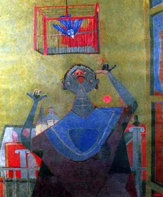 Rufino Tamayo, Woman and Bird, 1944