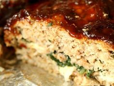 Spinach and Ground Turkey Meatloaf UPDATED: this is one of the best meatloaf's I've ever made, though next time I want to mix in the spinach (and mushrooms that I added) rather than layer them