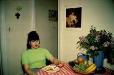 "aubreylstallard: "" Nan Goldin, Gina at Bruce's Dinner Party, New York City, 1991 """