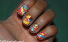DIY Tie-dye nails