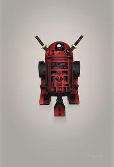 #Deadpool #Fan #Art. (Deadpool Starwars: R2-D2 Droid Superheroes Created) By: Steve Berrington. (THE * 5 * STÅR * ÅWARD * OF: * AW YEAH, IT'S MAJOR ÅWESOMENESS!!!™)[THANK U 4 PINNING!!!<·><]<©>ÅÅÅ+(OB4E)