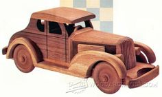 Wooden Deuce Coupe Plan - Children's Wooden Toy Plans and Projects - Woodwork, Woodworking, Woodworking Plans, Woodworking Projects Best Christmas Toys, Christmas Red Truck, Wooden Toy Trucks, Wooden Car, Wooden Projects, Wooden Crafts, Toy Pickup Trucks, Little Boy Toys, Best Kids Toys