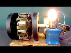 """How to make Free energy generator electricity Using Magnet motor - Easy DIY project experiment 2018 All of us hope you''ll like our video clip concerning """"HD. Electrical Projects, Electrical Installation, Homemade Windmill, Tesla Technology, Solar Car, Homemade Tools, Alternative Energy, Easy Diy Projects, Wall Lights"""