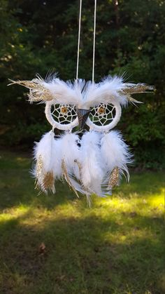 Mini Owl // Rear-View Mirror Owl by TheOceanBohemian on Etsy