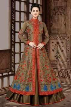 Looking to Buy Lehenga Online: Buy Indian lehenga choli online for brides at best price from Andaaz Fashion. Choose from a wide range of latest lehenga choli designs. Lehenga Choli, Lehenga Style, Anarkali Dress, Silk Dupatta, Indian Gowns, Indian Wear, Indian Outfits, Fashion Pants, Fashion Dresses