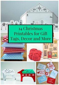 14 Christmas Printables for Gift Tags, Decor and More