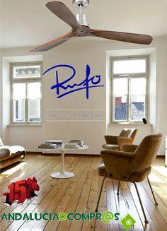 Si sales de casa este verano no será para tomar el fresco...15% de descuento en la compra de tu ventilador en Rufo Iluminación (Hasta el 30 de junio de 2015). No te lo pierdas y consíguelo en Andalucia de compras, a un solo click!  https://www.andaluciadecompras.es/portal/web/rufo-iluminacion