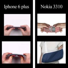 iPhone 6 plus vs Nokia 3310 Bending test - WhatsApp Text Very Funny Memes, Stupid Funny Memes, Funny Relatable Memes, Haha Funny, Hilarious, Nokia Meme, Nokia 3310 Meme, Funny Images, Funny Pictures