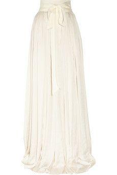 LANVIN  Draped satin maxi skirt