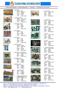 Daftar harga mainan edukatif paud   tk (ape paud tk ) ~ mainan edukatif ~ produksi mainan edukatif ape paud tk by asakaprima via slideshare