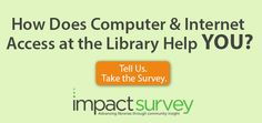 Help us improve technology service at Delaware's public libraries by taking this survey. Go to >>>http://impactsurvey.org/branch-select/47ny/196511