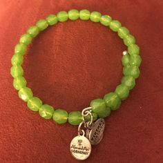 Alex And Ani Green Beaded.