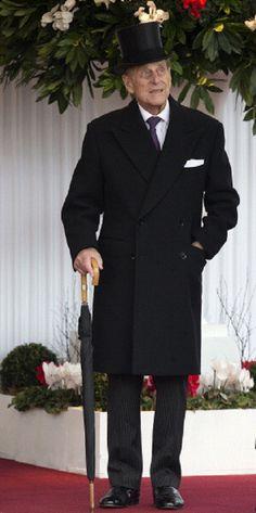 Prince Philip, Duke of Edinburgh outside Windsor Castle