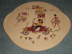 Tortenplatte Kuchenplatte Limburg Echt Dom Keramik 50er Rockabilly * | eBay