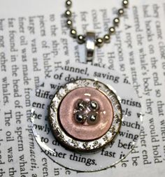 Pendant - like the clear layer and beads in the thread holes on the button.  Mod Podge jewelry: 20 project ideas to DIY. - Mod Podge Rocks