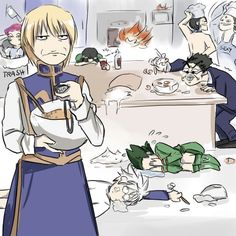 Hunter x Hunter. I don't know what's going on but it's funny!! XD