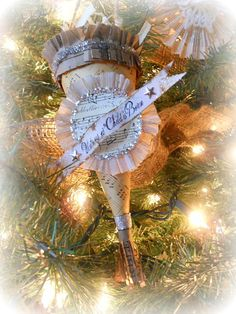 vintage inspired cone ornament
