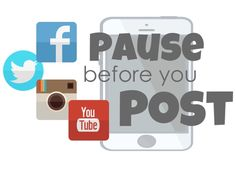 """FREE lesson for students. Digital Citizenship can be defined as the norms of appropriate, responsible behavior with regard to technology use. Watch a short video with the band Perry sharing information about the importance of """"Pausing Before You Post. Technology Posters, Technology Lessons, Digital Technology, Educational Technology, Instructional Technology, Teacher Freebies, Classroom Freebies, Classroom Posters, Classroom Resources"""