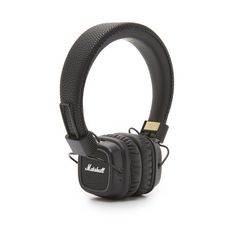 Marshall Major II Bluetooth Headphones ($150) ❤ liked on Polyvore featuring men's fashion, men's accessories, men's tech accessories and black
