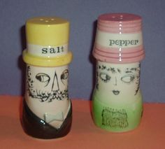 Vintage Dabs Holt Howard Peter Max Like Salt and Pepper Shakers S & P