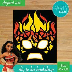 "Moana Te ka monster lava DIY backdrop for your birthday party ""Returns the heart of Te Fiti"""