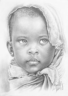 The Secrets Of Drawing Realistic Pencil Portraits - Niña de África 67 Lápiz de Grafito sobre Guarro 25 x 35 cm Año 2013 Secrets Of Drawing Realistic Pencil Portraits - Discover The Secrets Of Drawing Realistic Pencil Portraits Drawing Sketches, Pencil Drawings, Art Drawings, Horse Drawings, Pencil Art, Drawing Ideas, African American Art, African Art, Portraits Pastel