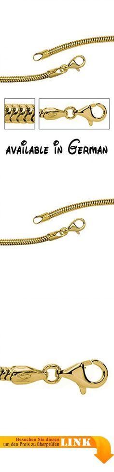 B076G2Q4W2 : 14 k ( 585 ) Gold Halskette im Stil einer Schlangenkette - L 50 cm. Mit Liebe gefertigt aus: 14 Karat ( 585 ) Gelbgold. Maße - L 50 cm. Im Stil einer Schlangenkette mit Karabinerverschluss. gestempelter Qualitäts Juweliers Schmuck aus Deutschland