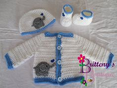 This is the perfect little set to bring home a newborn this winter!  The hearts are just too adorable to pass up! Your little fella or filly would look so cute in this set!!!  Also, it makes an awesome baby shower gift!  A nice warm set for a winter newborn!!  The sweater in this set was adapted from my Two Tone Sweater set pattern which can be found for free on my blog!