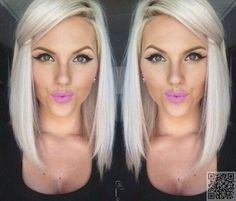 16. #Platinum - Sick of Having Long #Hair? Check out #These Long Bob Inspos Now! → Hair #Hairstyles