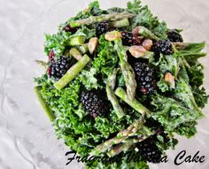 Raw Spring Kale, Asparagus and Blackberry Salad from Fragrant Vanilla Cake
