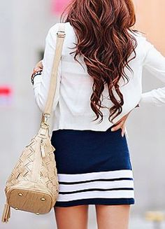 love this skirt. and outfit Estilo Fashion, Look Fashion, Fashion Beauty, Womens Fashion, Looks Style, My Style, Girl Style, Look Formal, Vogue