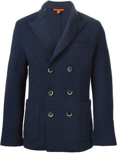 $640, Barena Double Breasted Blazer. Sold by farfetch.com. Click for more info: https://lookastic.com/men/shop_items/336833/redirect