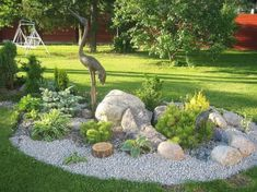 Front Yard Garden Design Stunning Rock Garden Design Ideas - Quiet Corner - Rock gardens can turn grassy areas and awkward,difficult-to-mow slopes into a low-maintenance landscape.Check out the inspirational rock garden design ideas Landscaping With Rocks, Front Yard Landscaping, Landscaping Plants, Luxury Landscaping, Landscaping Melbourne, Landscaping Edging, Inexpensive Landscaping, Landscaping Images, Rock Garden Design