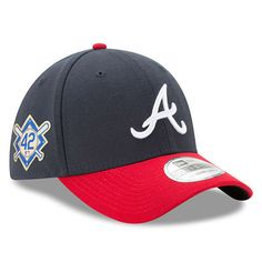 Men s New Era Navy Atlanta Braves 2018 Jackie Robinson Day 39THIRTY Flex Hat fa9bcf0ad796
