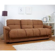 Always have room for guests with this contemporary mocha storage sofa bed complete with drink compartments and a fold-down table. Featuring soft microsuede and a sturdy, hardwood frame, this sofa bed guarantees your guests will sleep in comfort. Fold Down Beds, Fold Down Table, Sleeper Sofa, Sofa Bed, Sofa Design, Living Room Furniture, Living Room Decor, Bed Positions, Convertible Furniture