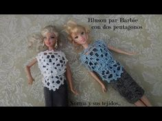 Bluson para Barbie a crochet con dos pentágonos - YouTube Barbie And Ken, Barbie Dolls, Doll Videos, Crochet Barbie Clothes, Crochet Videos, Crocheting, Fashion Outfits, Disney Princess, Knitting