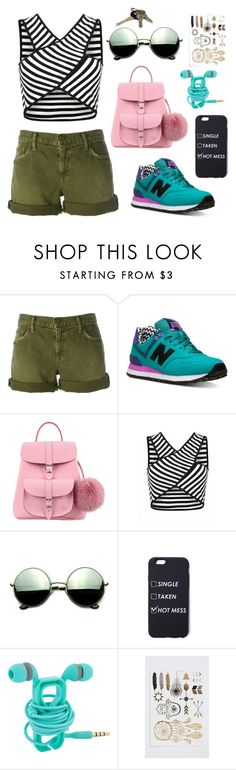 """""""Untitled #274"""" by explorer-14394972064 ❤ liked on Polyvore featuring Current/Elliott, New Balance, Grafea and Revo"""