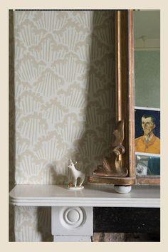 Linen wallpaper  Deewar  Pinterest  Dining rooms