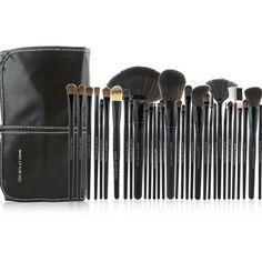 Nova chegada 32 pcs preto escova cosmética Tool Kit pincéis de maquiagem profissional definida com capa de couro PU em Escovas & Ferramentas de Saúde & Beleza no AliExpress.com | Alibaba Group
