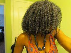 First sucessful wash and go on natural hair!